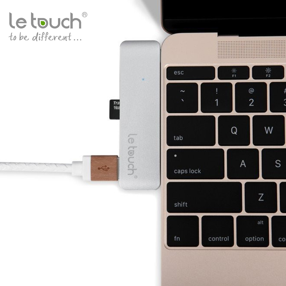 Le Touch hot best selling Type-c USB 3.0 5 in 1 Combo Hub for Macbook 12""
