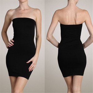 Fashion Design Cheap Slimming Body Shaper Night Bar Party Sexy Strapless Dress