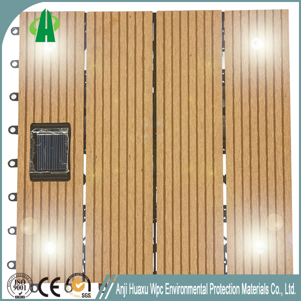 Wholesale outdoor decking solar floor tile covering with high quality