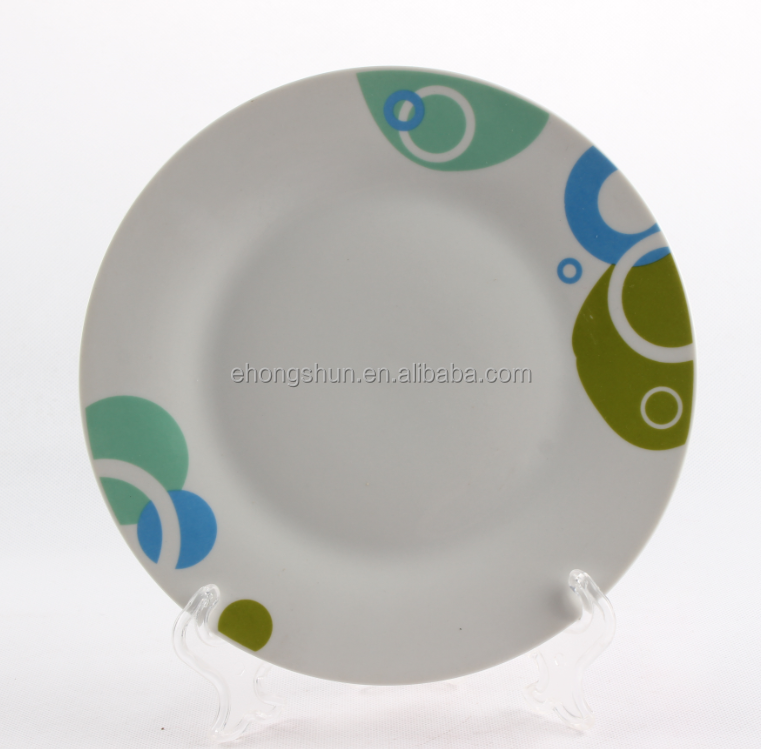 Oriental characteristics plate,porcelain flat plate,ceramic dinner plate