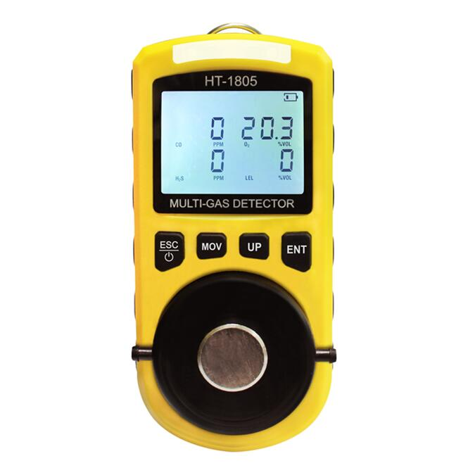 Ex LEL CH4 CO O2 h2s four in one gas detector with diffusion