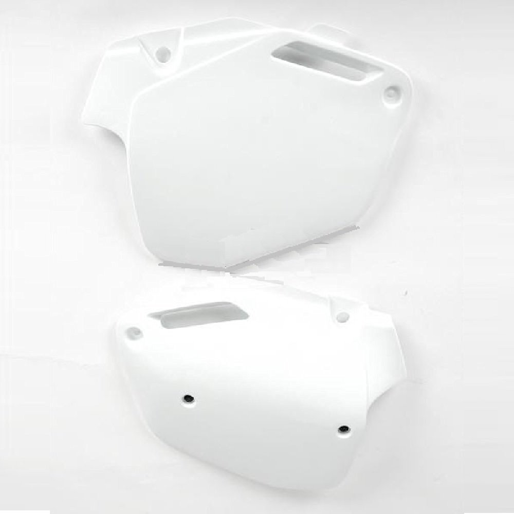 Ufo White Side Plates and Keepitroostin Sticker Fits Honda Cr500 1991-2001