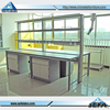 Chemical Lab Furniture H-Frame Steel-Wood Work Benches Epoxy Resin Lab Bench Top