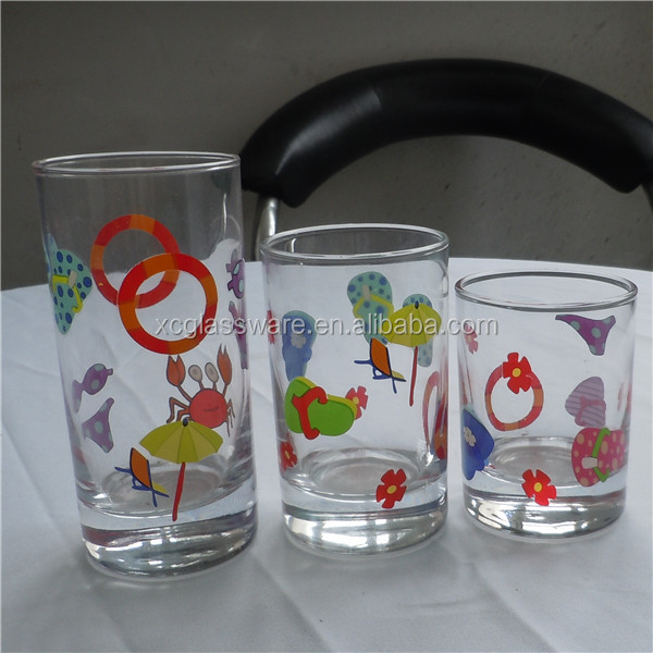 New Designed Arc Shape Colorful Water Glass,Curved Glass Cup