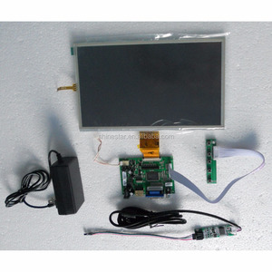 frameless 10 inch LCD monitor with VGA AV support HDMI input + USB resistive touch screen without housing