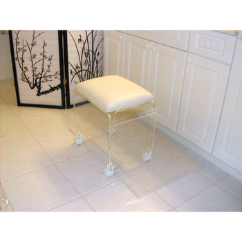 White Cushion Clear Acrylic Bathroom Vanity Stool On Casters - Buy on vanity with mirror and bench sets, vanity seat, vanity chair, indoor jacuzzi for bathroom, garden windows for bathroom, vanity step stool, girls' bathroom, vanity with makeup counter, rugs for bathroom, chairs for bathroom, cabinets for bathroom, vanity and stool, vanity stool slipcover, vanity stool on casters, vanity stool or bench, vanity with stool, ottomans for bathroom, vanity stool on wheels, lucite vanity stools bathroom, towel shelves for bathroom,