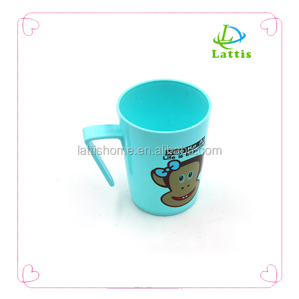 plastic mug water microwave lid handle milk drinking cup childrens drinking glass cup