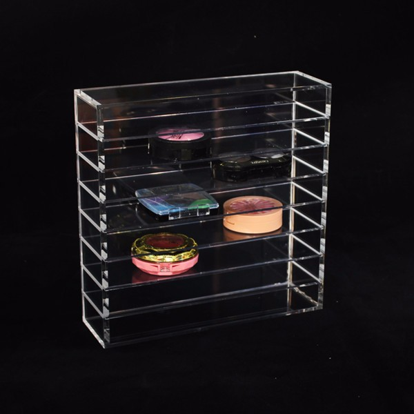Custom Acrylic Compact Eyeshadow Organizer Spinning Cosmetic Display Stand Acrylic Lipstick Stand Holder Wholesale