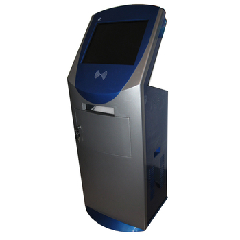 A4 printing touch screen kiosk with card reader