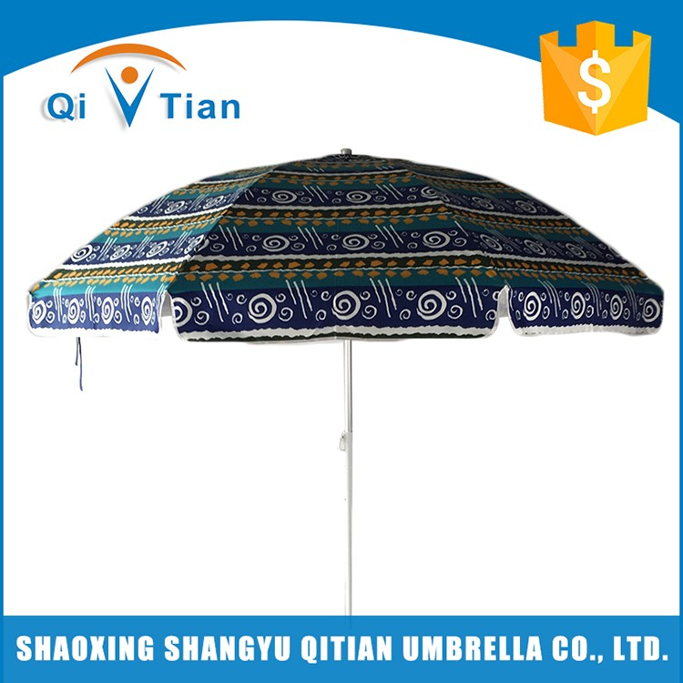 Newest design top quality large sturdy adjustable scenery design beach umbrella
