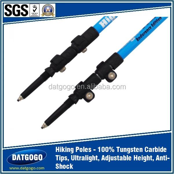 Strong Outdoor Adjustable Folding Lightweight Trekking Poles Hiking Pole Walking Stick Cane Handle Bastones Senderismo