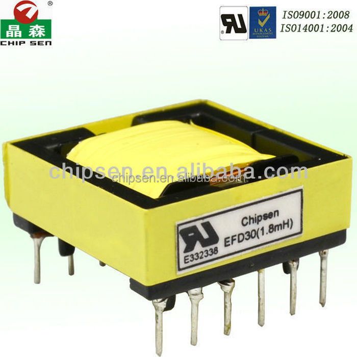 Mn-Zn PC40 ferrite core/ EE8.3 double slot transformer/24v small transformer