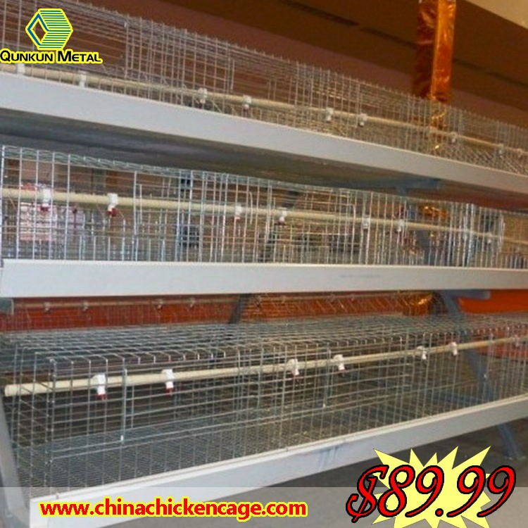 gabbie bambino/Layer poultry farms battery cage with hand controling feeding equipment