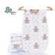 MIKAQI pure cotton Six-layer gauze cartoon bear design anti-kick baby sleeping bag