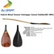 ZJ SPORT Discounted Hybrid Outrigger Canoe Paddle With Wood Bent Shaft and Wood Veneer Blade
