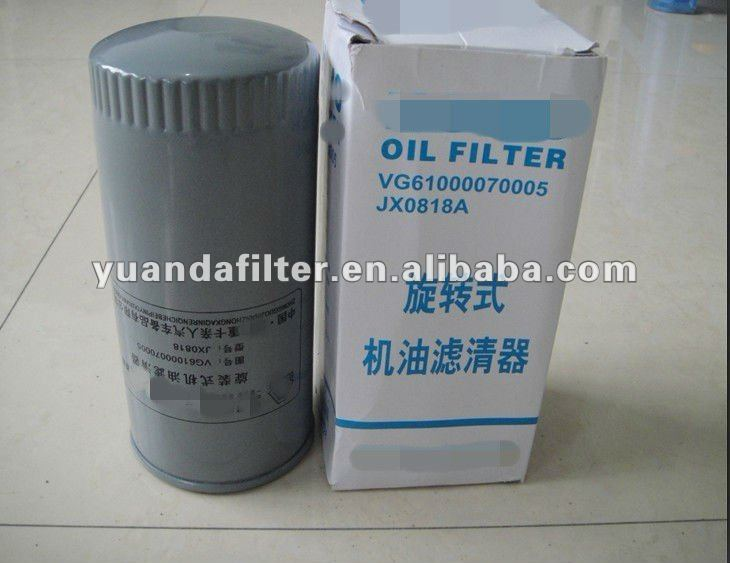 HOWO OIL FILTER JX0818A