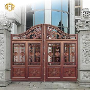 2016 Decorative Cast Aluminum Garden Gates Iron Courtyard Gate