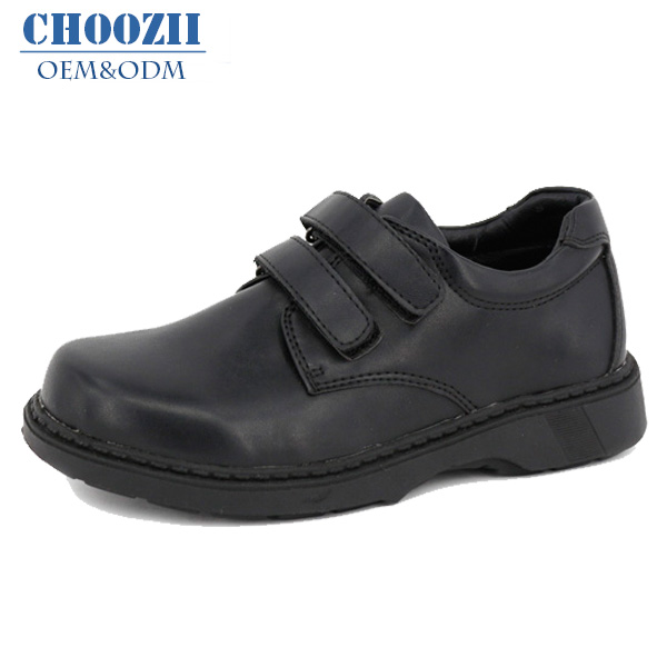 OEM Supplier 2016 Children Leather School Footwear with Buckle