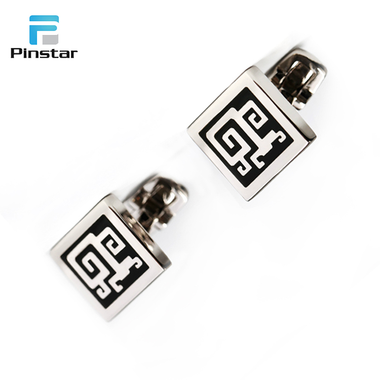 Top Quality Bulk Apparel Accessories Weddings Black Box Cufflink Rectangle
