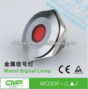 Installation size 30mm waterproof stainless steel 12v mini led indicator lights