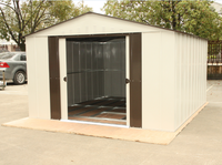 10x13 feet metal storage garden shed, prefabricated tiny tool house