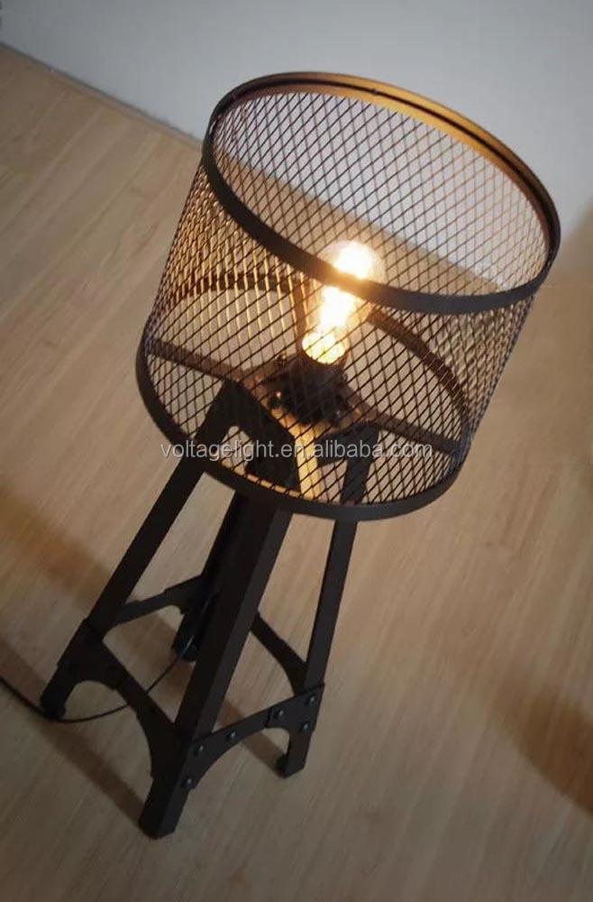 Vintage Industri 235 Le Led Tafellamp Met Zwarte Smeedijzeren