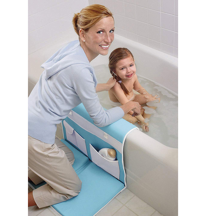 Customized baby bath kneeler pad with elbow rest mat for baby bath time