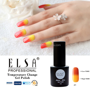 ELSA beauty shining color changing gel polish temperature gel nail polish with good quality