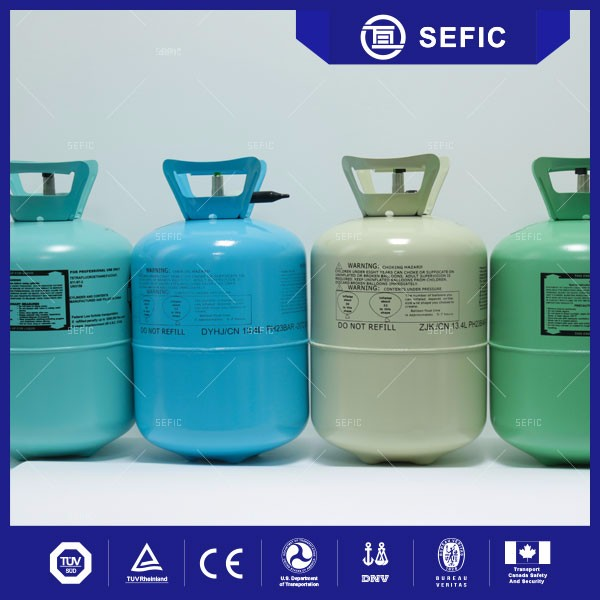 Valve Equipped Small Disposable Helium Gas Cylinder