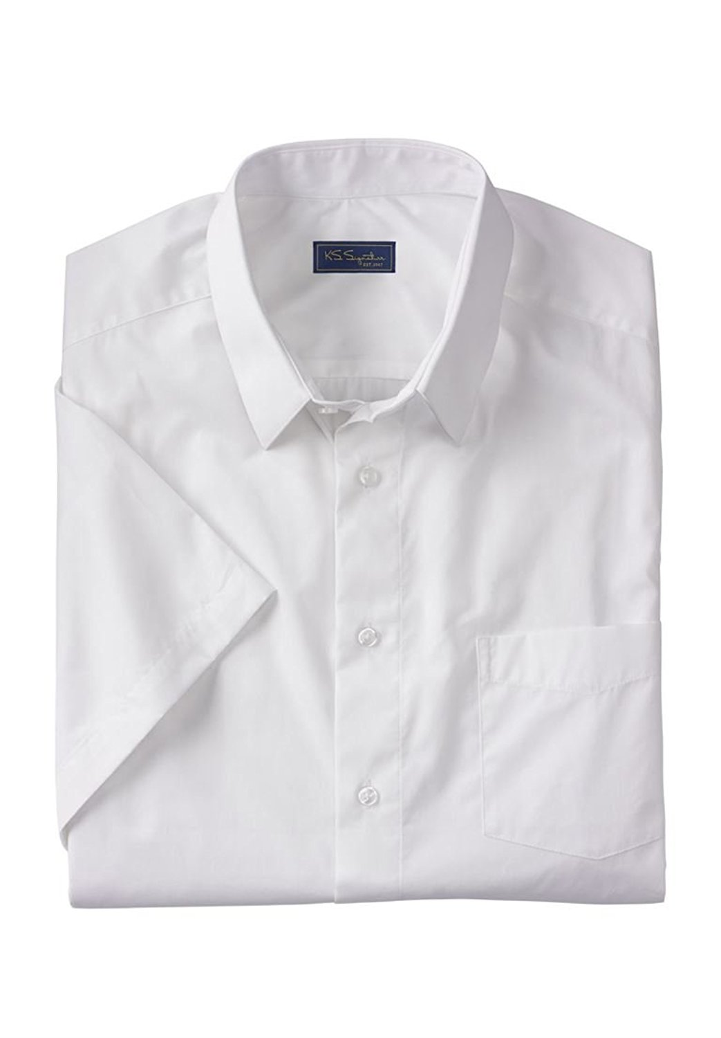 5a9eee259af2 Get Quotations · Kings' Court Men's Big & Tall No Hassle Short-Sleeve Dress  Shirt, White