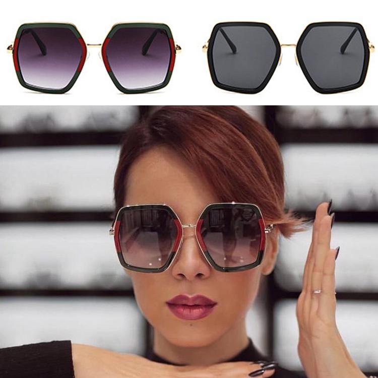 3d5cc833ef515 Quadrado de Cristal de Luxo da Marca Óculos de Sol Das Senhoras De Grandes  Dimensões Óculos