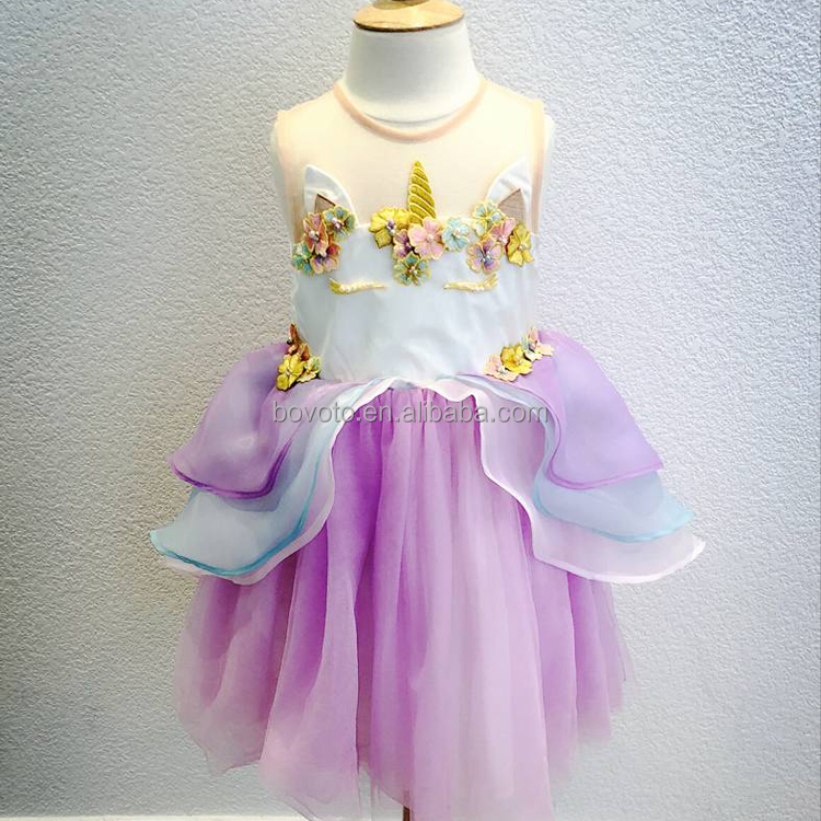 2018 Hot Neonata Unicorn Dress Per Il Partito