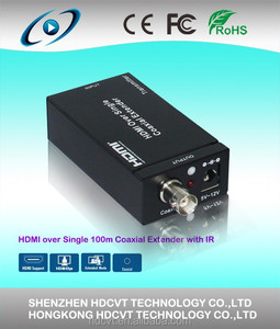 HDMI 1.3 Extender Over single 100m/328ft Coaxial Cables with IR Control