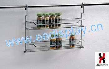 Hanging Kitchen Metal Stainless Steel Wall Mounted Metal Spice Rack