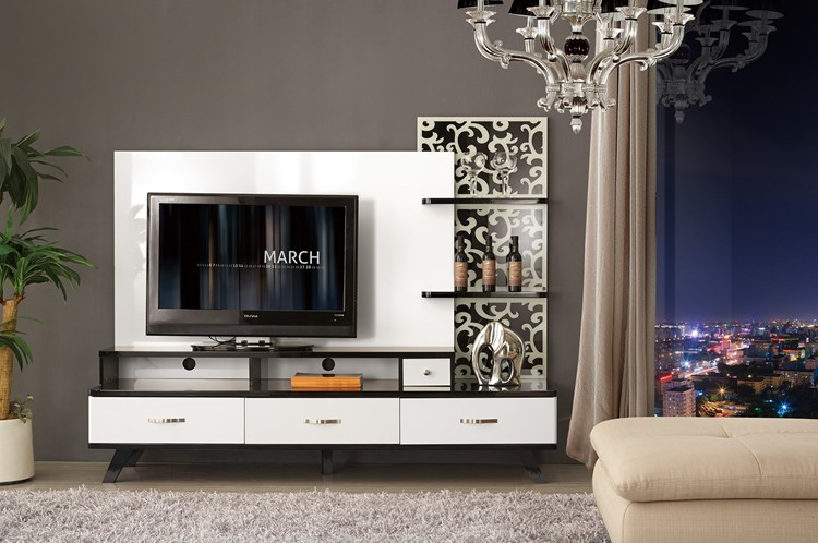 Moroccan furniture market royal house furniture wooden tv for Tv cabinet designs for hall