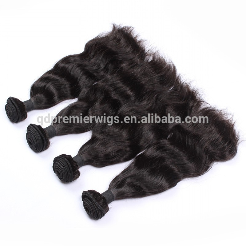 Top grade unprocessed natural wave 100% natural indian hair