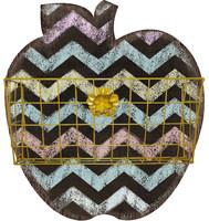 Apple shape Decoartive wood storage magazine rack