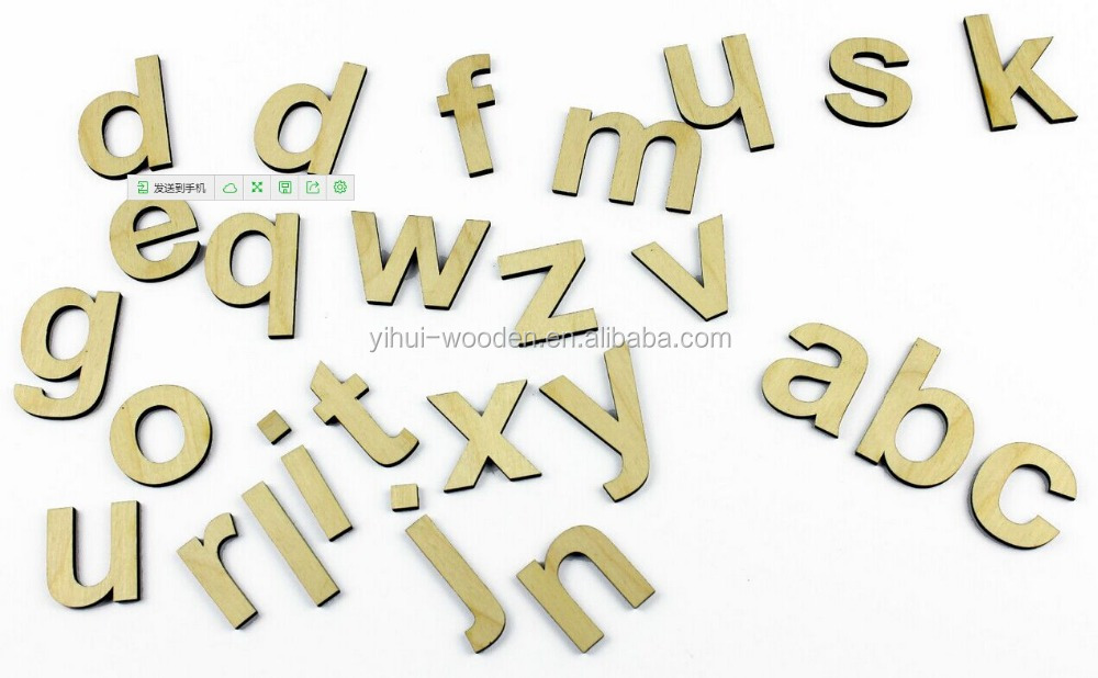 2015 cheap small wooden craft alphabet letters Wholesale