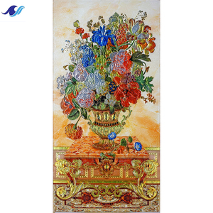 Shiny picture wall decoration custom pattern organic glass