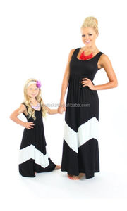 2015 koya mom love me fashion design of baby girls long dress and mother kids maxi dress