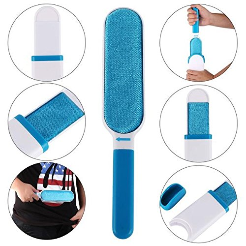 Pets Care Lint Remover and Fur Remover with Self-Cleaning Base and Double-Sided Brush Removes Dog Cat Horse and Pet Fur and Hair (FREE EBOOK)