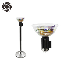 Retractable Plastic Post Top Merchandising Bowl For Crowd Control Stand
