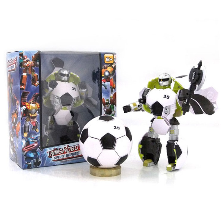 Rugby Pattern Changeable Robot Plastic Toy Game Types of Souvenirs