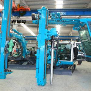 guardrail vibratory diesel hammer hydraulic piling machine driving