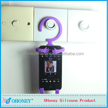Cute style waterproof SGS silicone phone holder, guangzhou factory, China