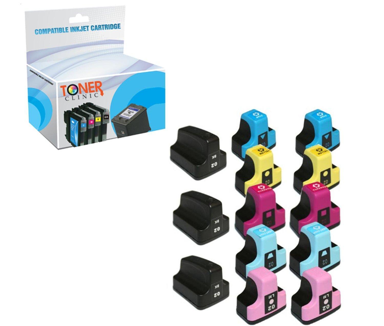 Compatible 2 Black Ink Cartridges for HP 02XL HP02XL 02 XL D7360 D7460 7280