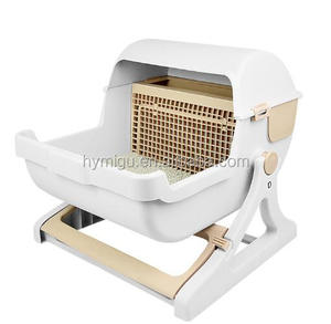 Plastic Automatic sifting cat litter cat sand tray /pan cat toilet