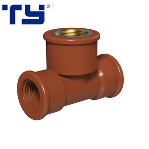 Water Supply High Pressure PVC Pipe Fittings Brass Equal Tee