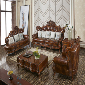 big american style luxury furniture 100 percent top grain leather sofa set