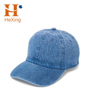 Custom Blank Distressed Denim Dad Hat washed Vintage Denim Cap With ... 9be8d84ee74
